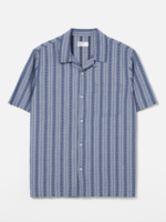 Universal Works Road Shirt Blue Western Stripe by Universal Works