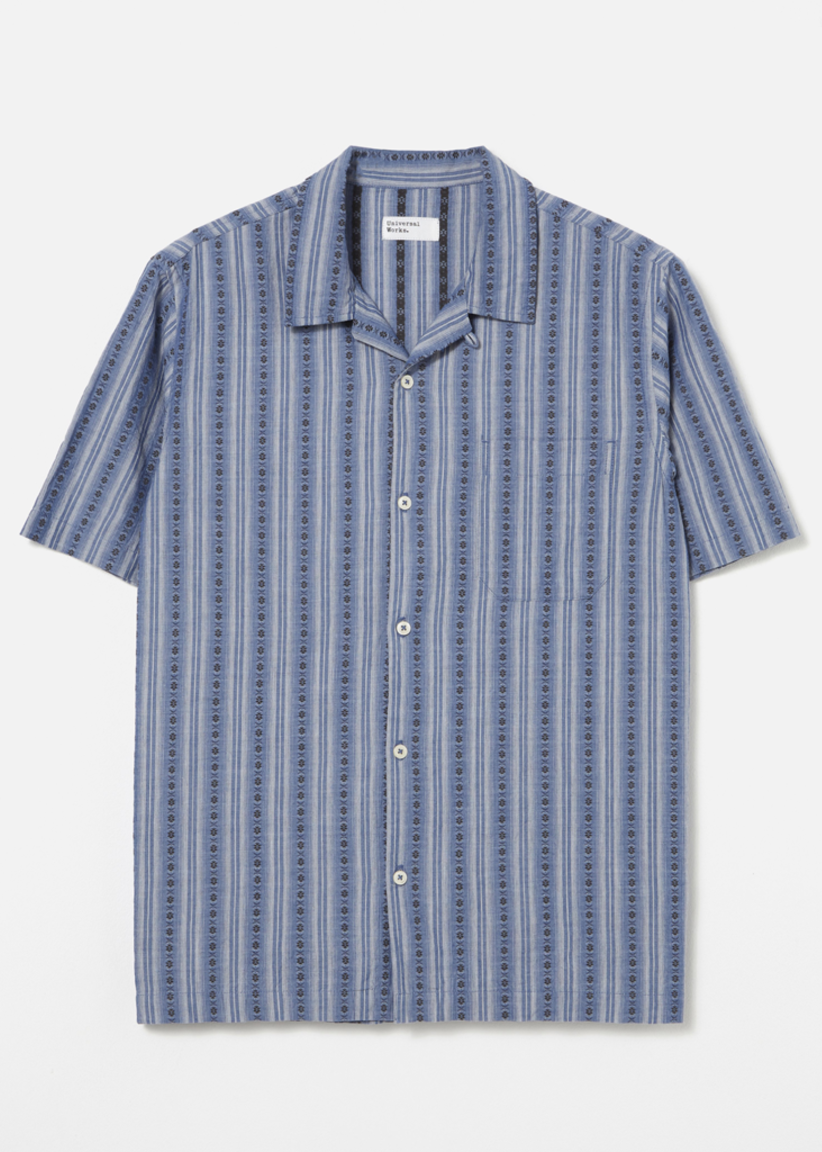 Universal Works Universal Works Road Shirt Blue Western Stripe
