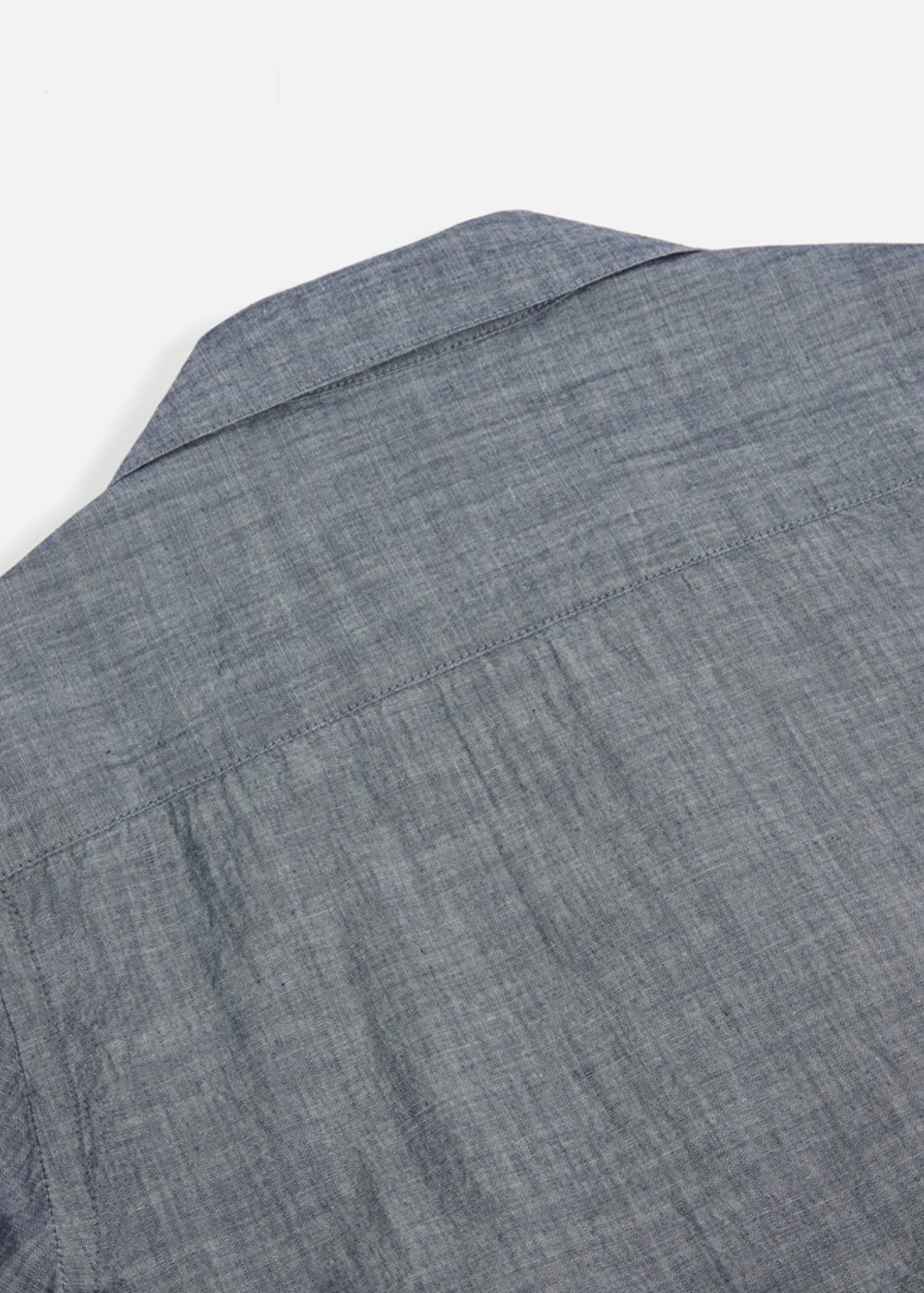 Universal Works Universal Works Open Collar Indigo Chambray Shirt