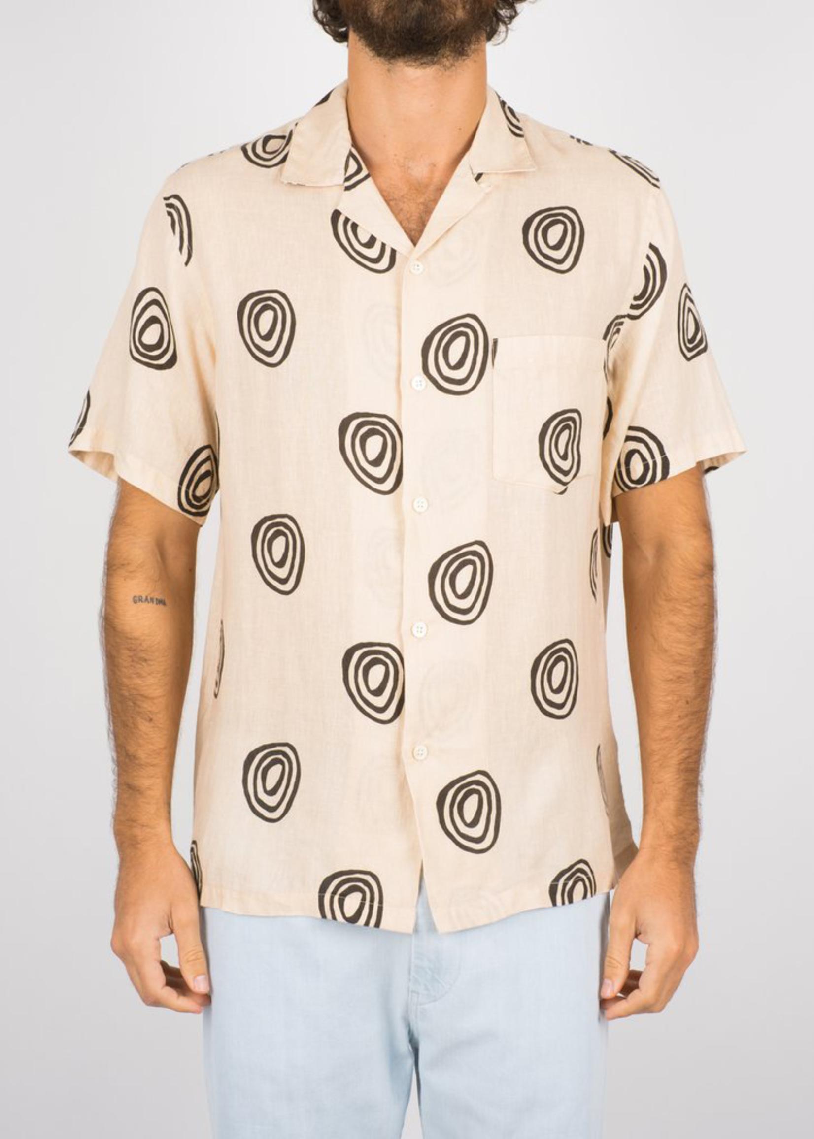 Portuguese Flannel Portuguese Flannel Aboriginal S/S Linen Camp Collar Shirt