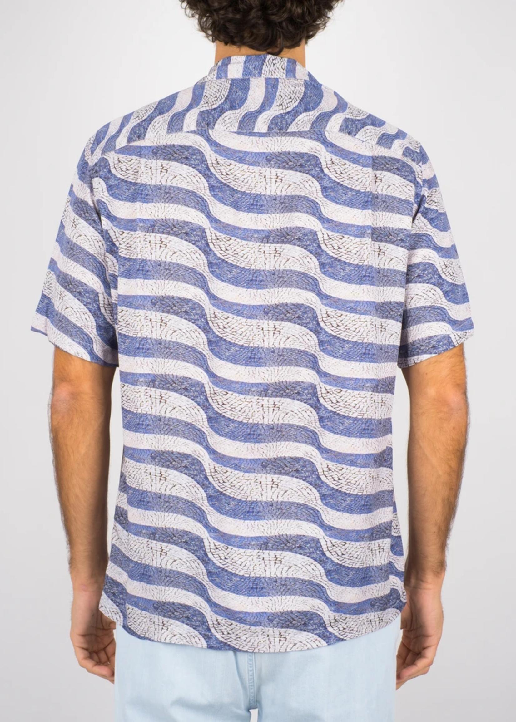 Portuguese Flannel Portuguese Flannel Calcada S/S Rayon Camp Collar Shirt