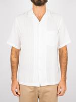 Portuguese Flannel Portuguese Flannel Canal S/S Camp Collar Shirt White