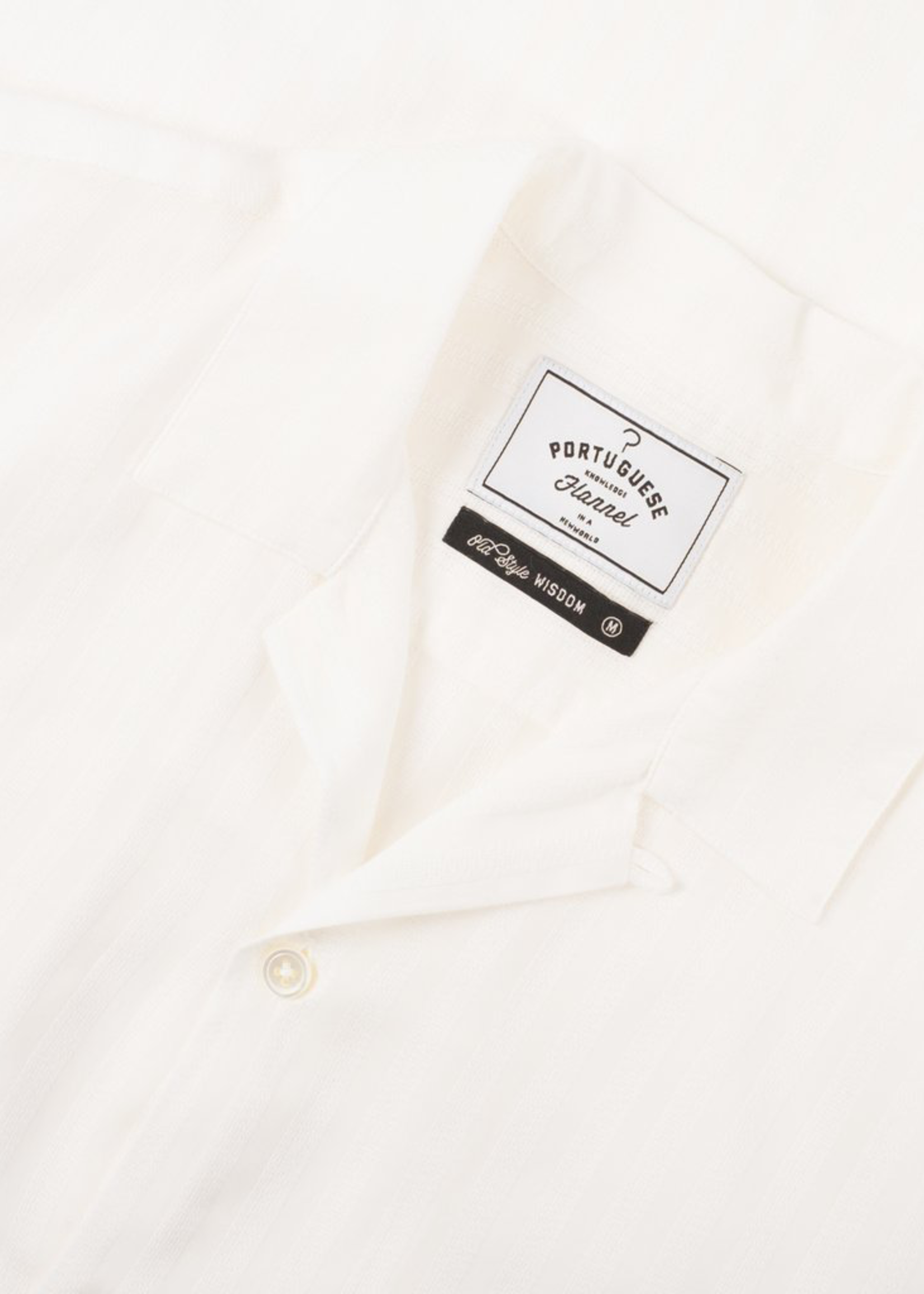 Portuguese Flannel Canal S/S Camp Collar Shirt White