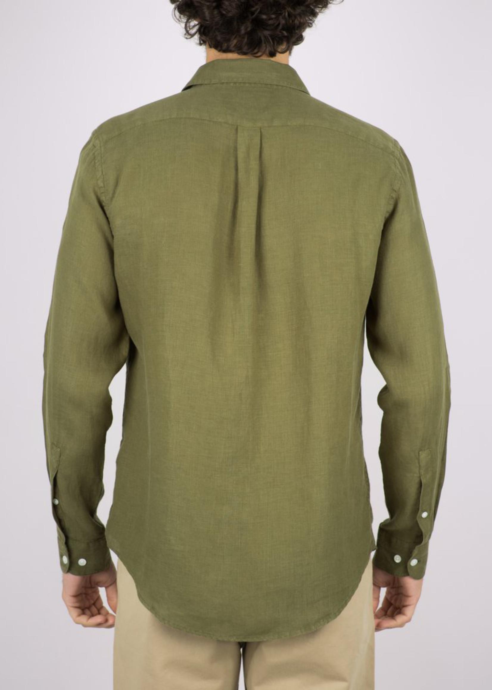 Portuguese Flannel Portuguese Flannel Linen L/S Shirt Olive