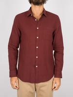 Portuguese Flannel Portuguese Flannel Linen L/S Shirt Bordeaux