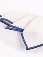 Dion Color Border Linen Pocket Square Navy by Dion