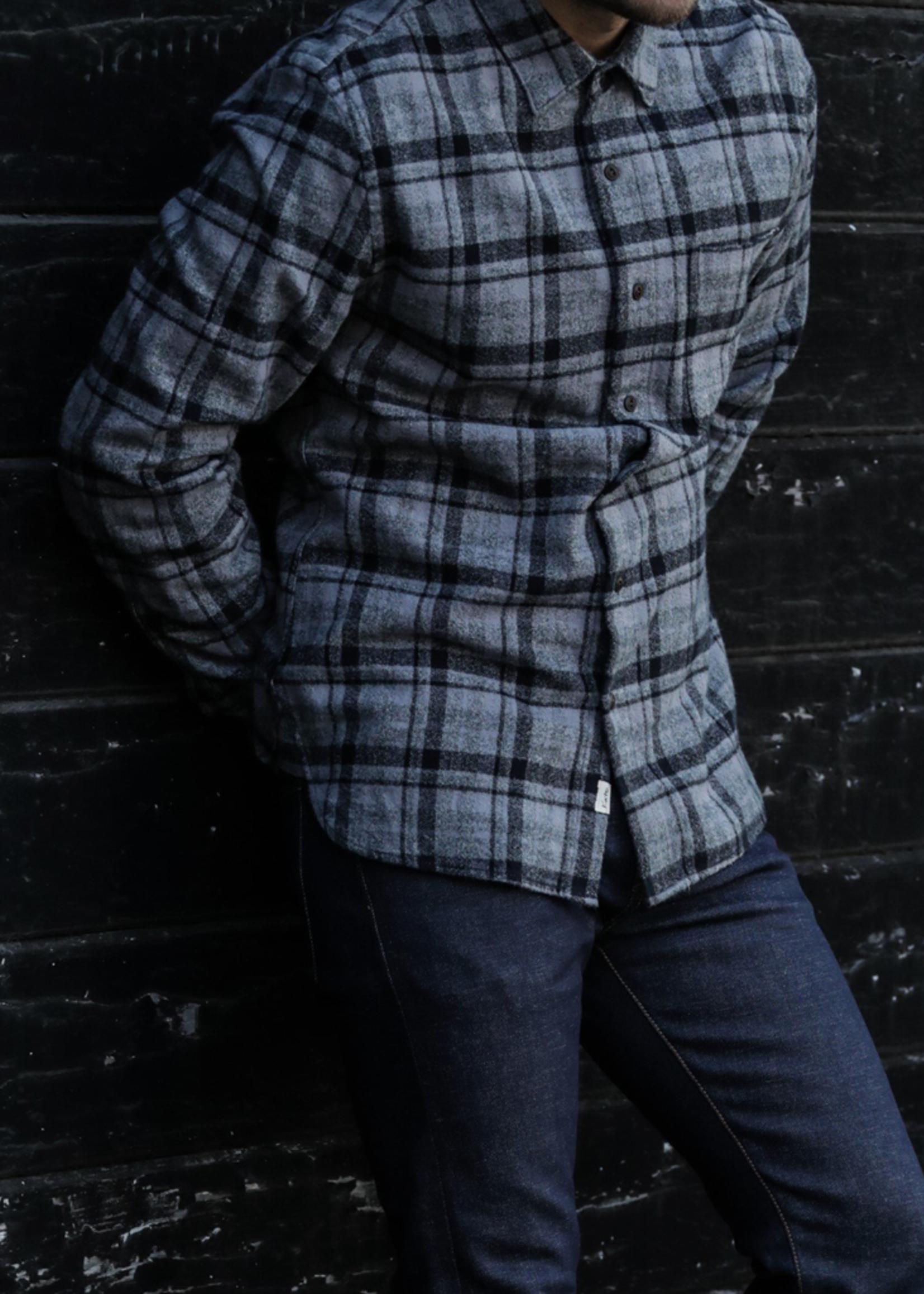 Kato  Kato Ripper Shirt Dark Gray Vintage Plaid