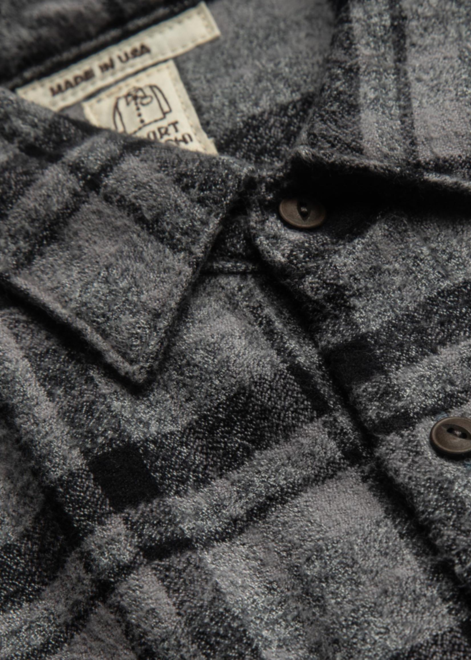 Kato Ripper Shirt Dark Gray Vintage Plaid by Kato