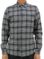 Kato Ripper Shirt Dark Gray Vintage Plaid by Kato