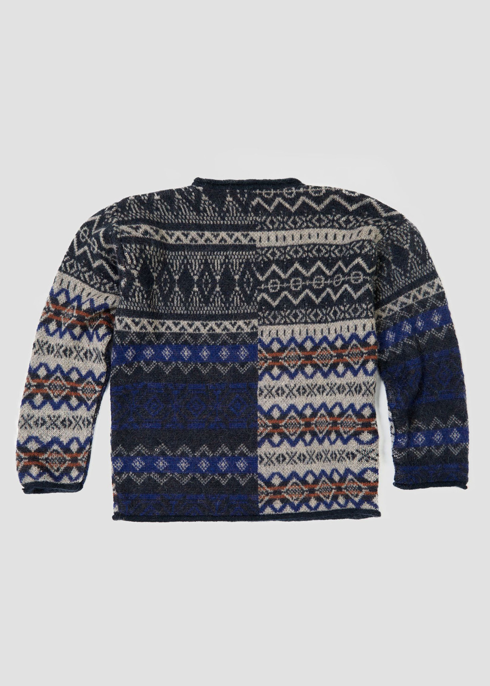 "GarbStore Garbstore ""The English Difference"" Crewneck Sweater Tan Mohair Fair Isle"