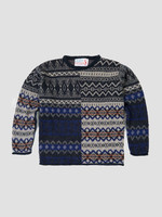 "GarbStore Garbstore ""The English Difference"" Crewneck Sweater Tan Mohair Fair Isle"