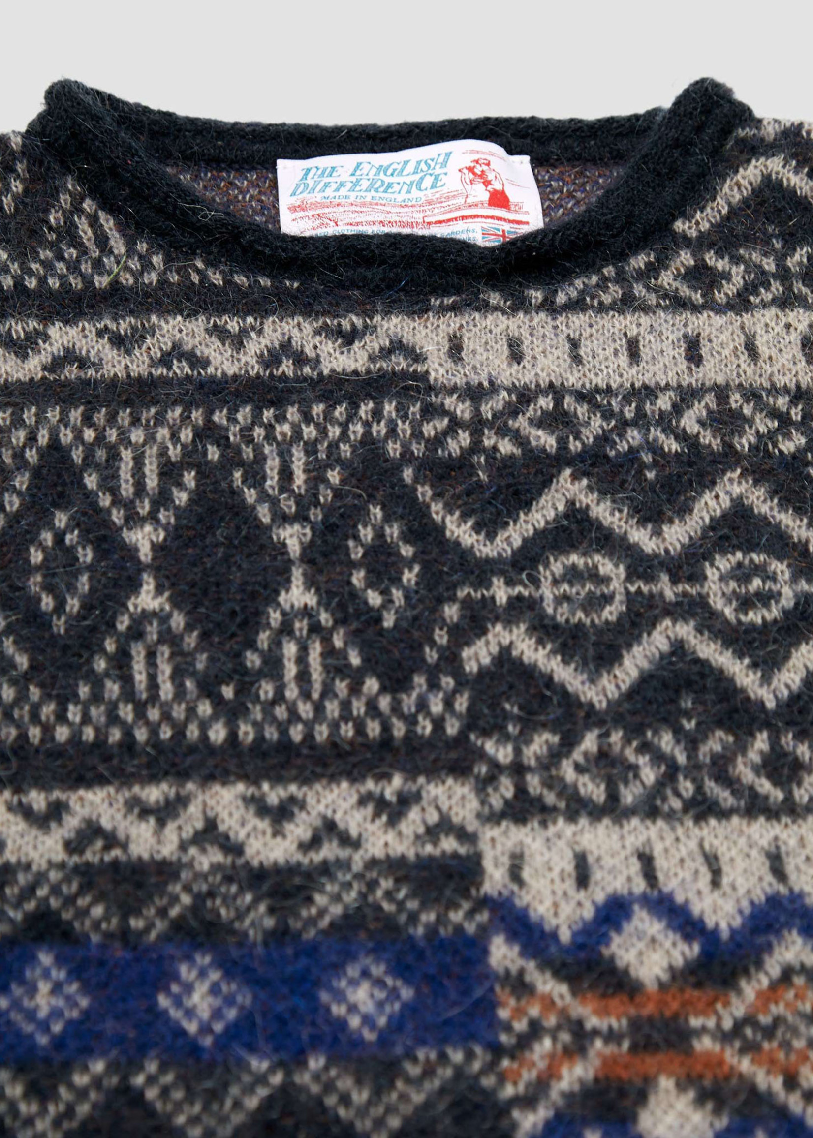 "GarbStore ""The English Difference"" Crewneck Sweater Tan Mohair Fair Isle by Garbstore"