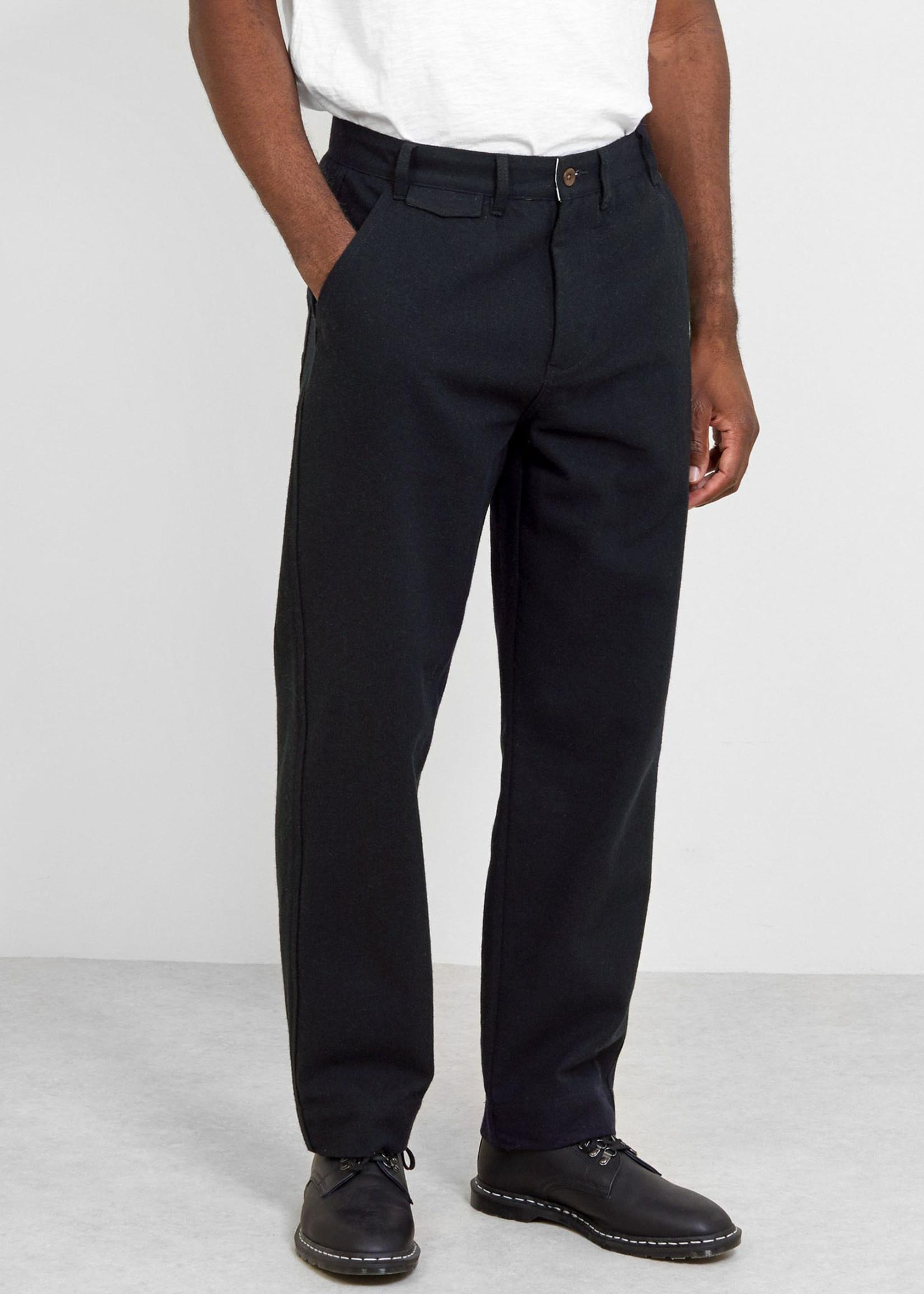GarbStore Work Chino Navy Cotton/Wool Herringbone by Garbstore