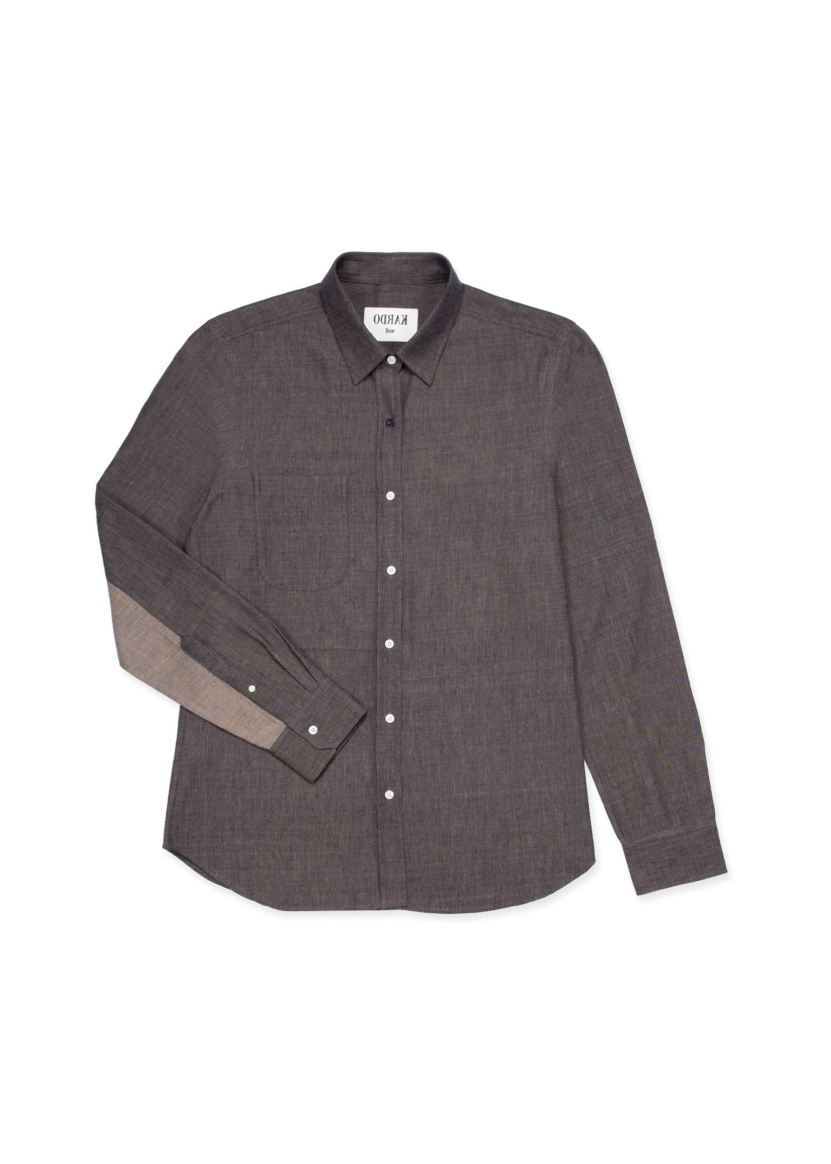 Kardo Stevie Chocolate Twill Sport Shirt by Kardo