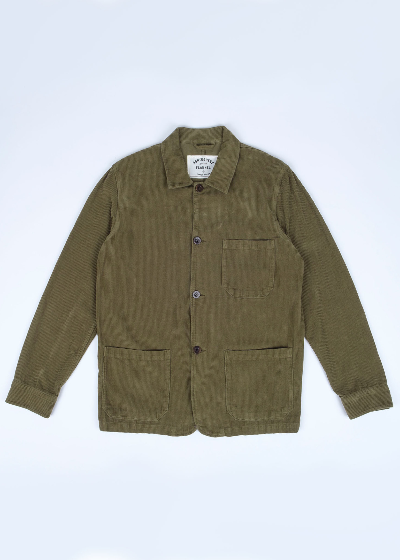 Portuguese Flannel Portuguese Flannel Labura Olive Corduroy Chore Jacket