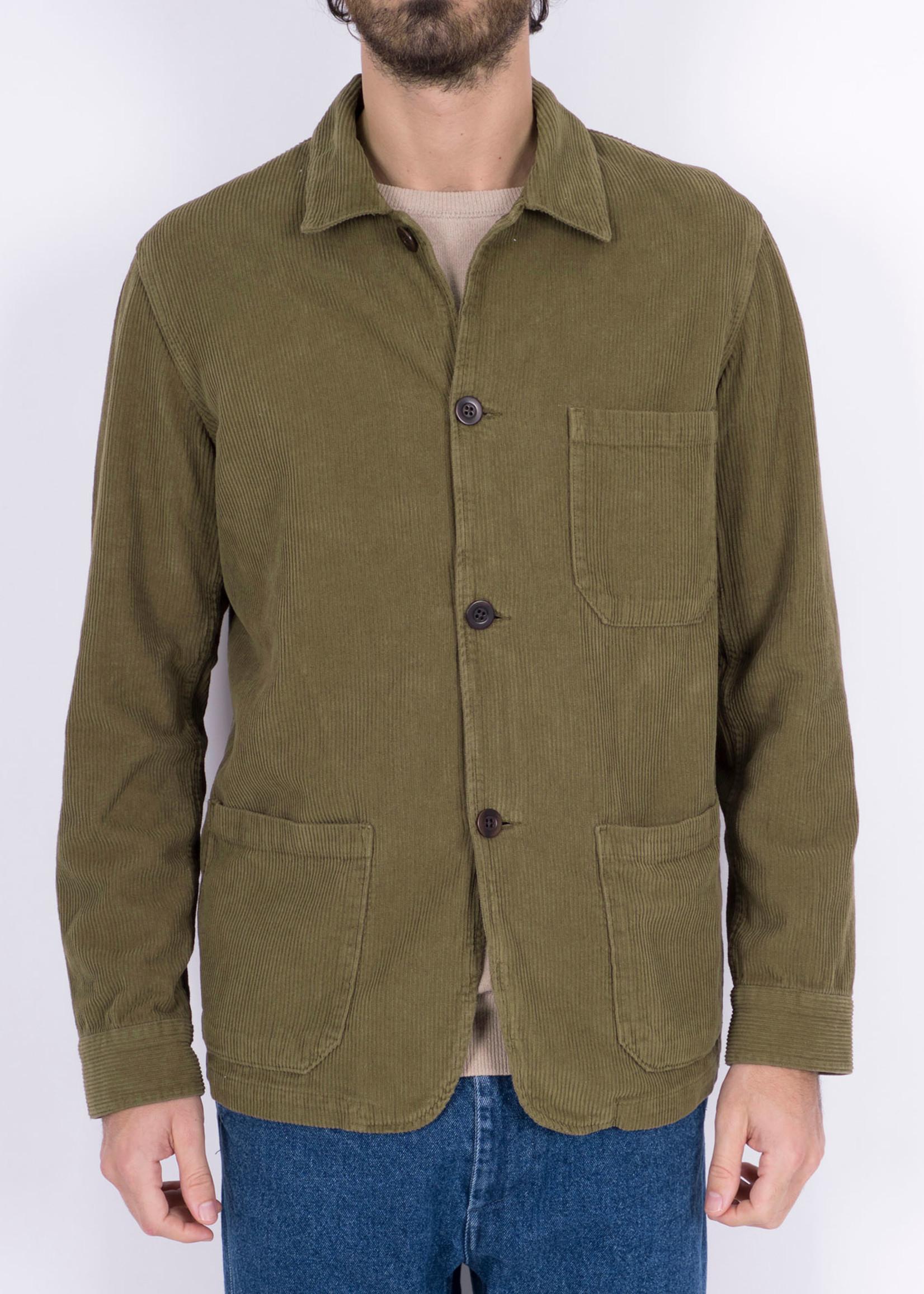 Portuguese Flannel Labura Olive Corduroy Chore Jacket by Portuguese Flannel