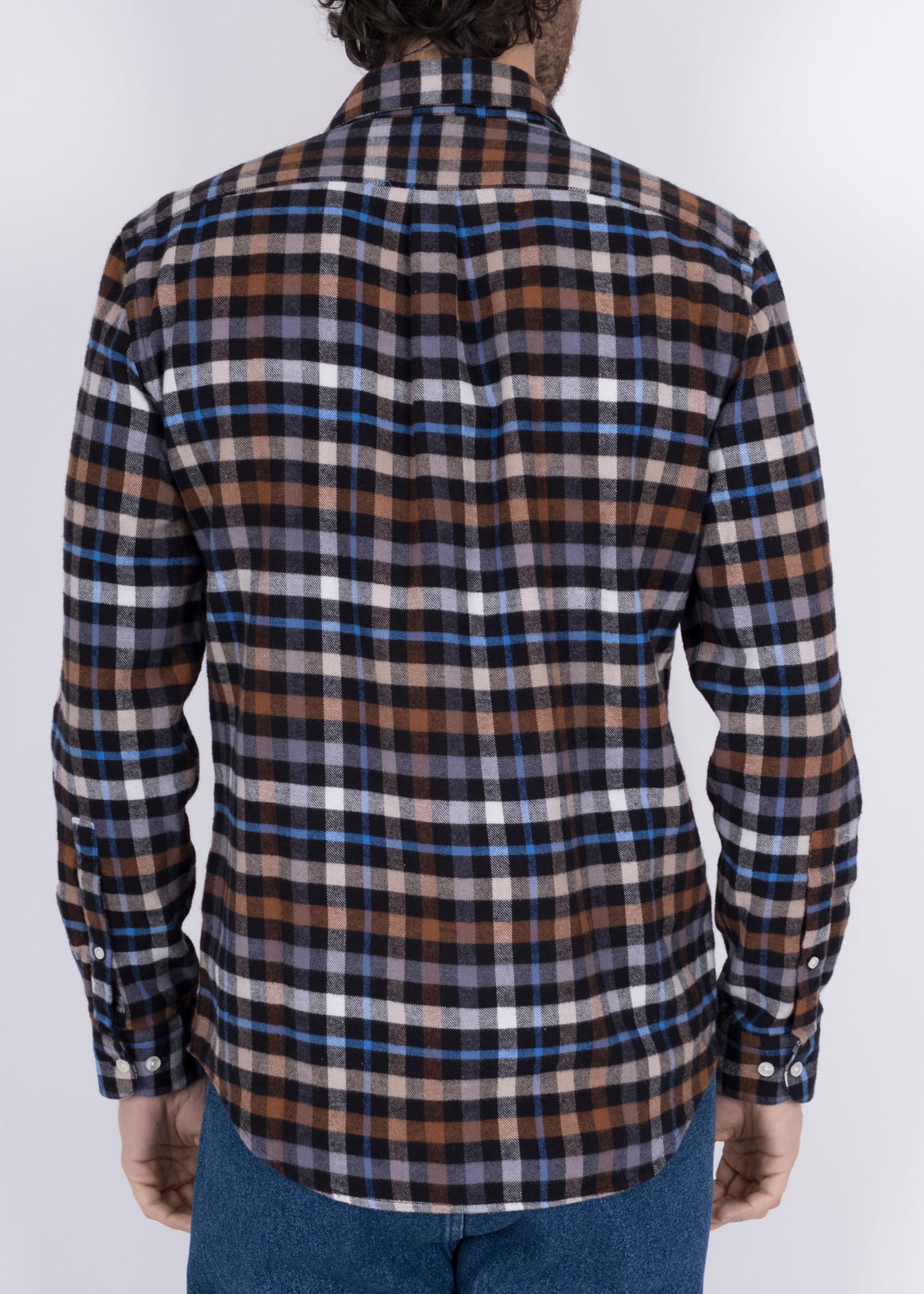 Portuguese Flannel Mob Multi Plaid Cotton Flannel Sport Shirt by Portuguese Flannel