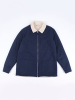 Portuguese Flannel Portuguese Flannel Sherpa Jacket Navy Reversible