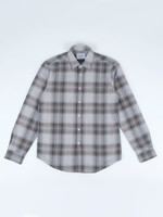 Portuguese Flannel Rude Green Check Flecked Cotton Sport Shirt by Portuguese Flannel