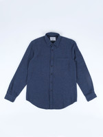 Portuguese Flannel Portuguese Flannel Rude Navy Flecked Cotton Sport Shirt