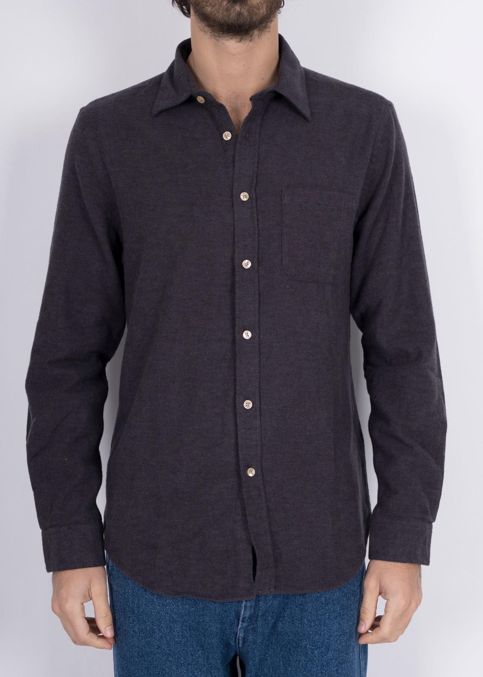 Portuguese Flannel Portuguese Flannel Teca Graphite Cotton Flannel Sport Shirt