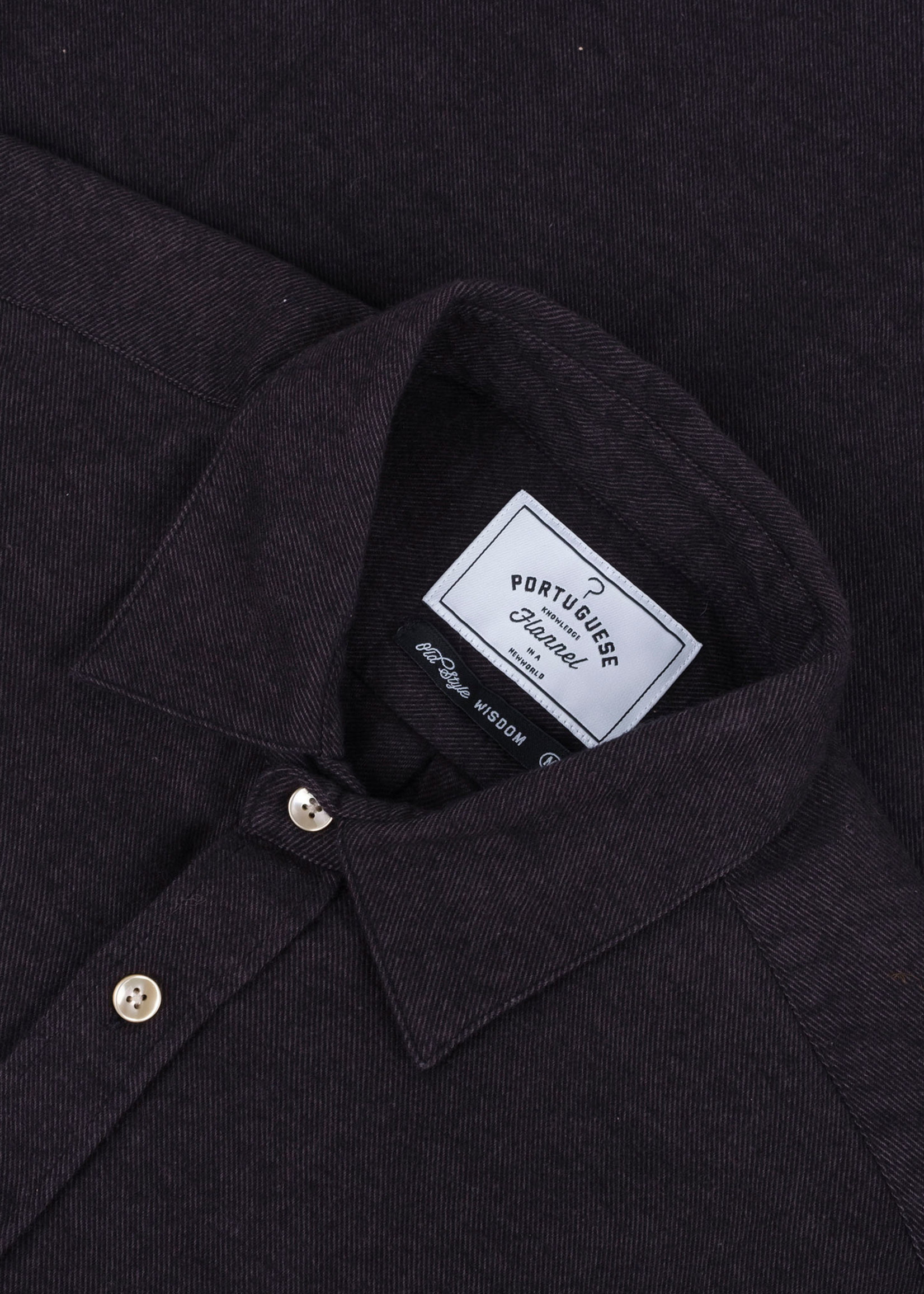 Portuguese Flannel Teca Graphite Cotton Flannel Sport Shirt by Portuguese Flannel