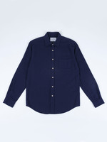 Portuguese Flannel Teca Navy Cotton Flannel Sport Shirt by Portuguese Flannel