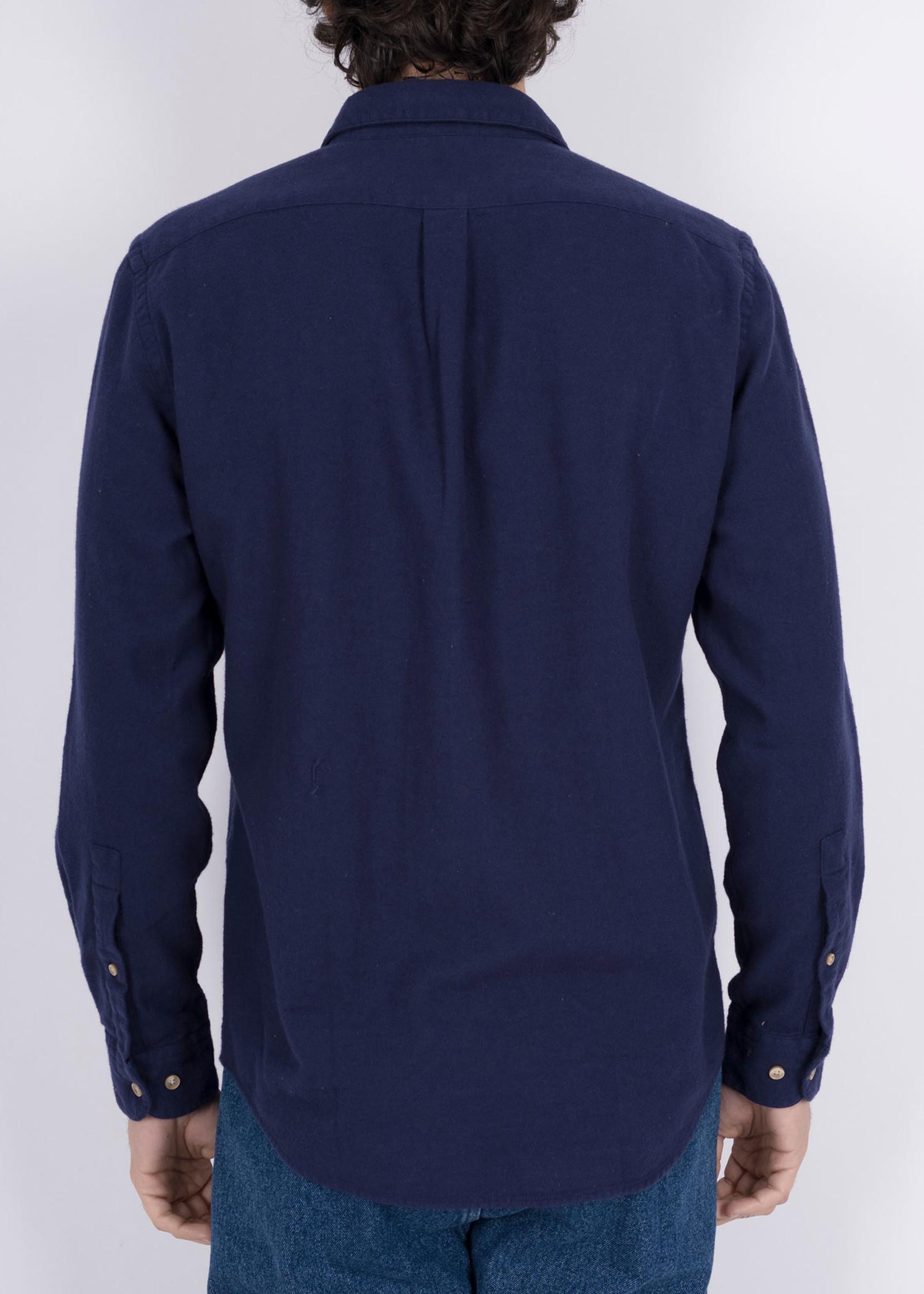 Portuguese Flannel Teca Navy Cotton Flannel Sport Shirt by Portuguese Flannel