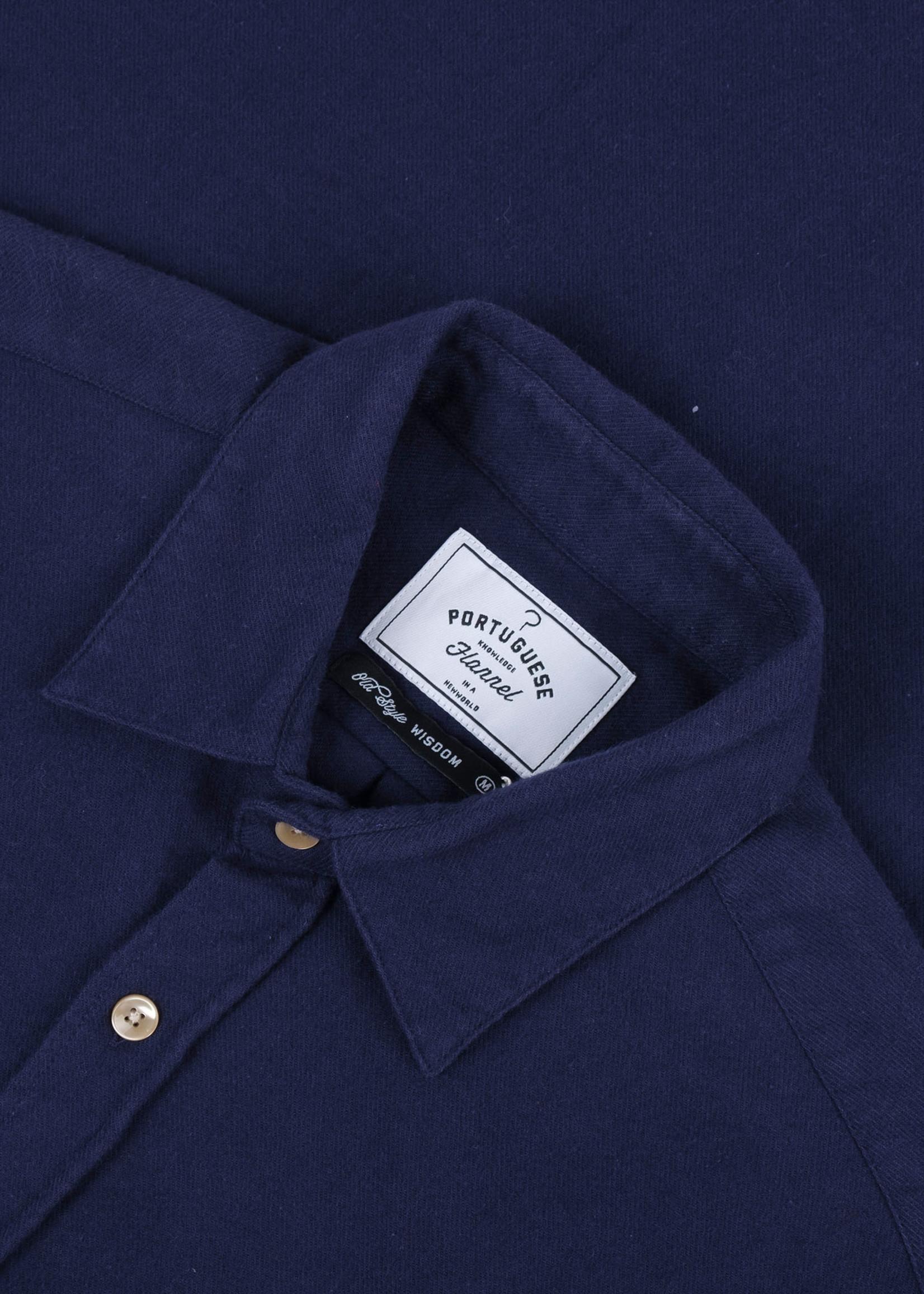 Portuguese Flannel Portuguese Flannel Teca Navy Cotton Flannel Sport Shirt
