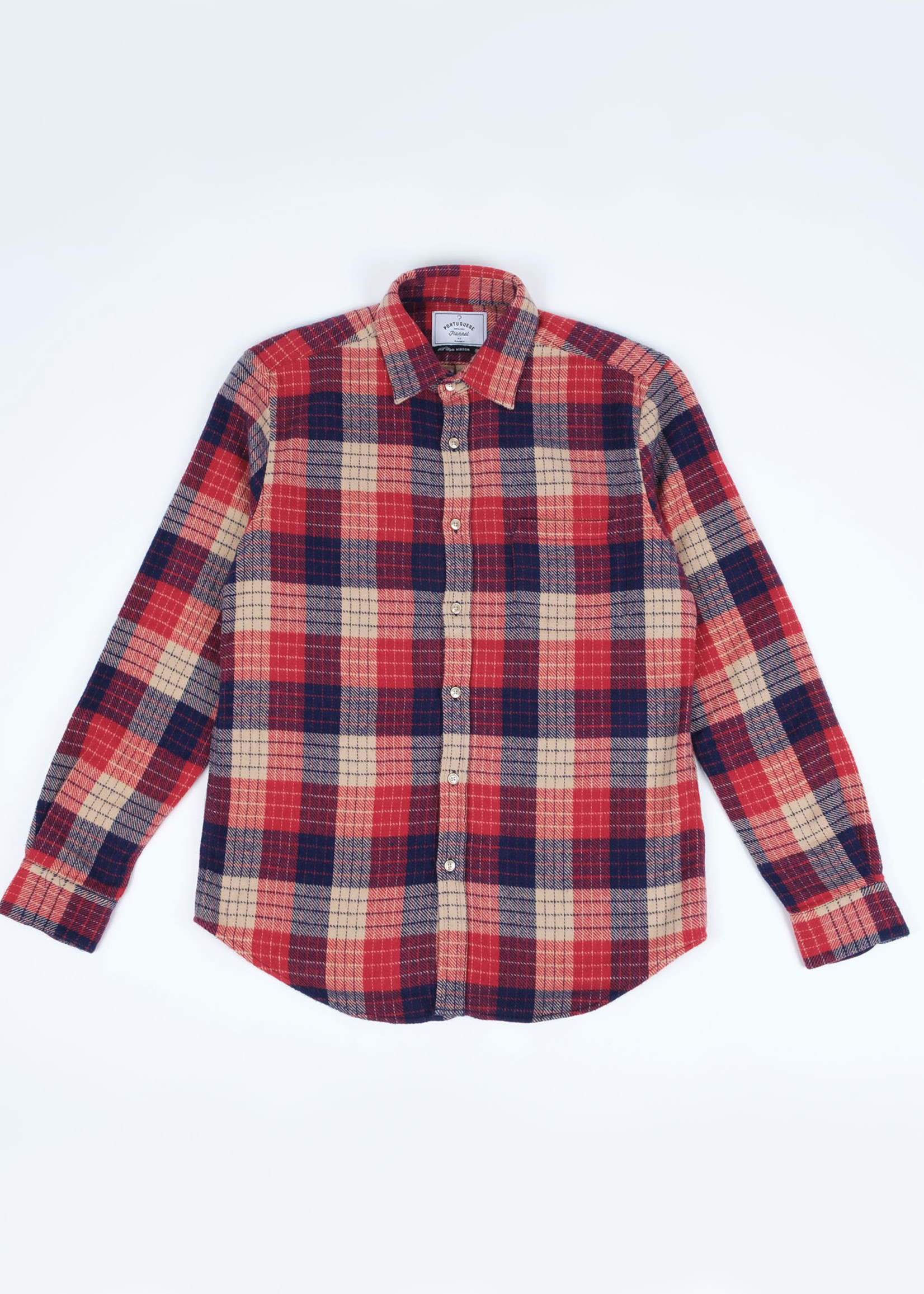 Portuguese Flannel Village Red Blue Plaid Sport Shirt by Portuguese Flannel