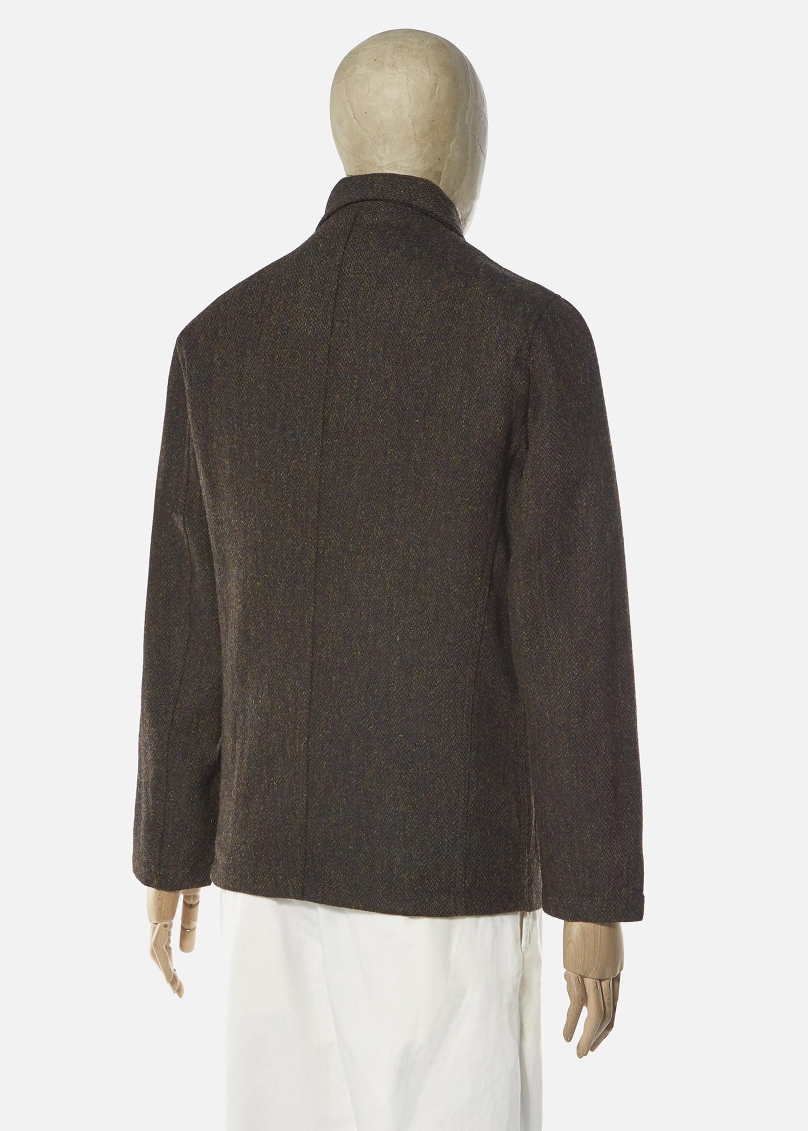 Universal Works Universal Works Bakers Jacket Olive Harris Tweed