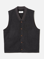 Universal Works Brixton Waistcoat Charcoal Wool/Poly by Universal Works