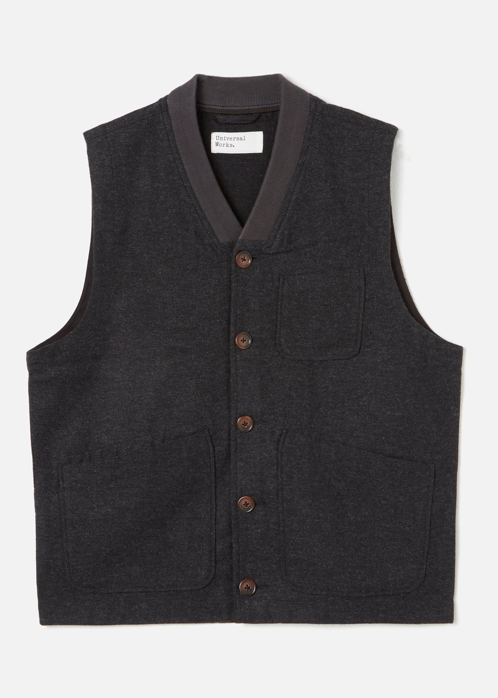 Universal Works Universal Works Brixton Waistcoat Charcoal Wool/Poly