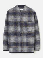 Universal Works Universal Works Austin Cardigan Navy Plaid Wool Fleece