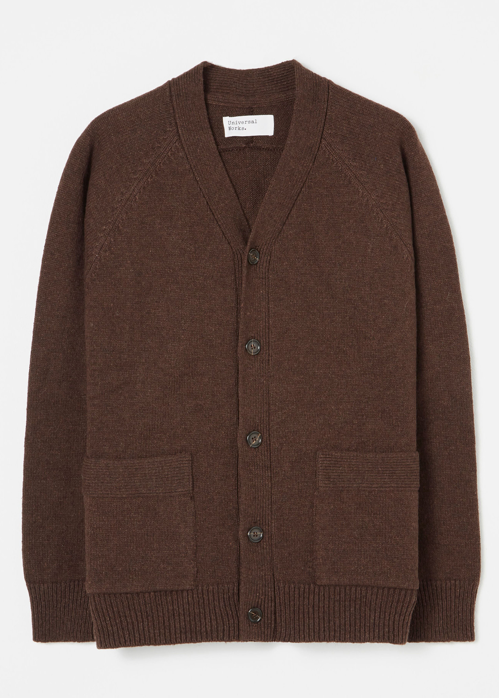 Universal Works Vince Cardigan Chocolate Wool by Universal Works