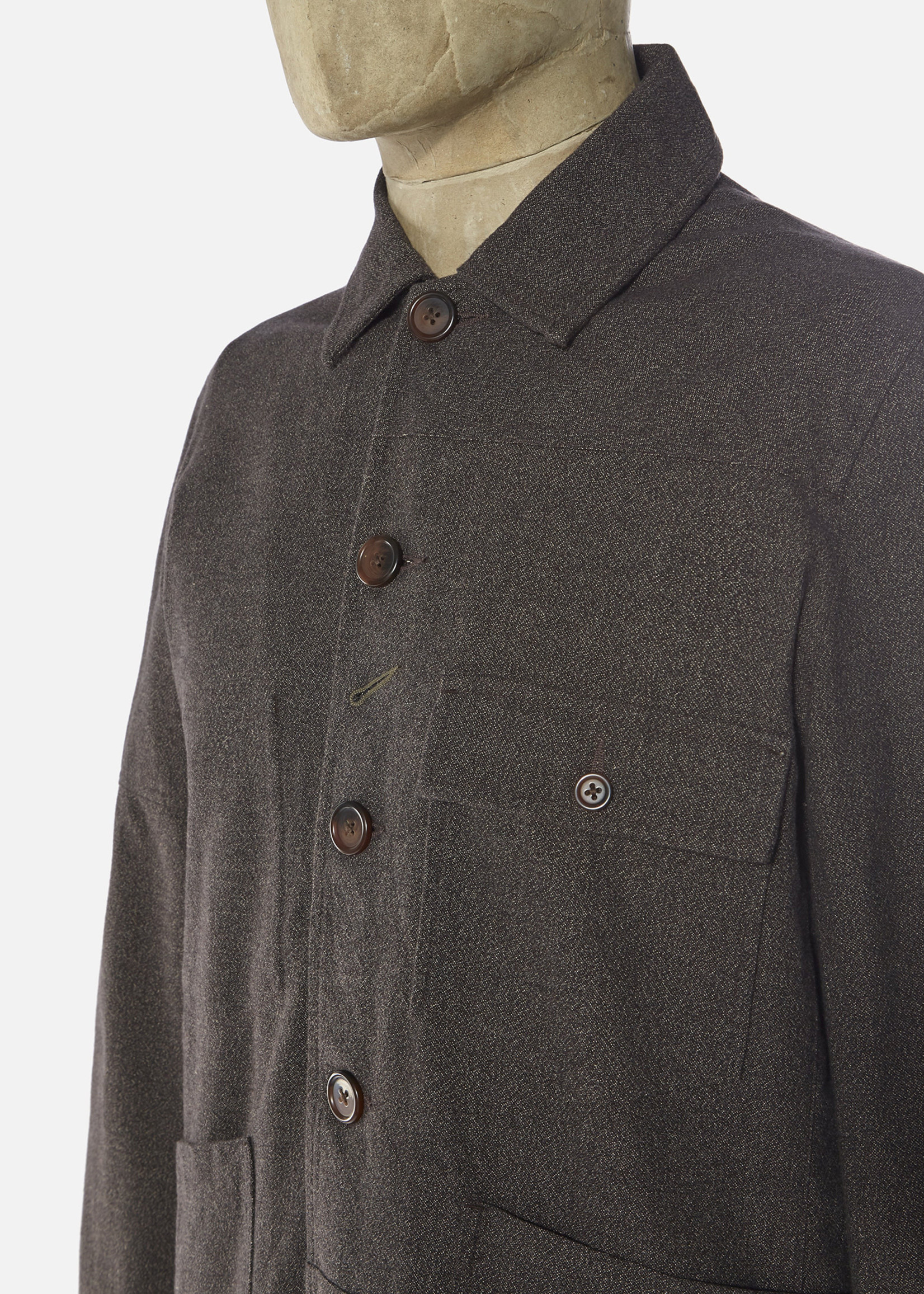 Universal Works Universal Works Patched Mill Bakers Jacket Chocolate Subalpino Cotton