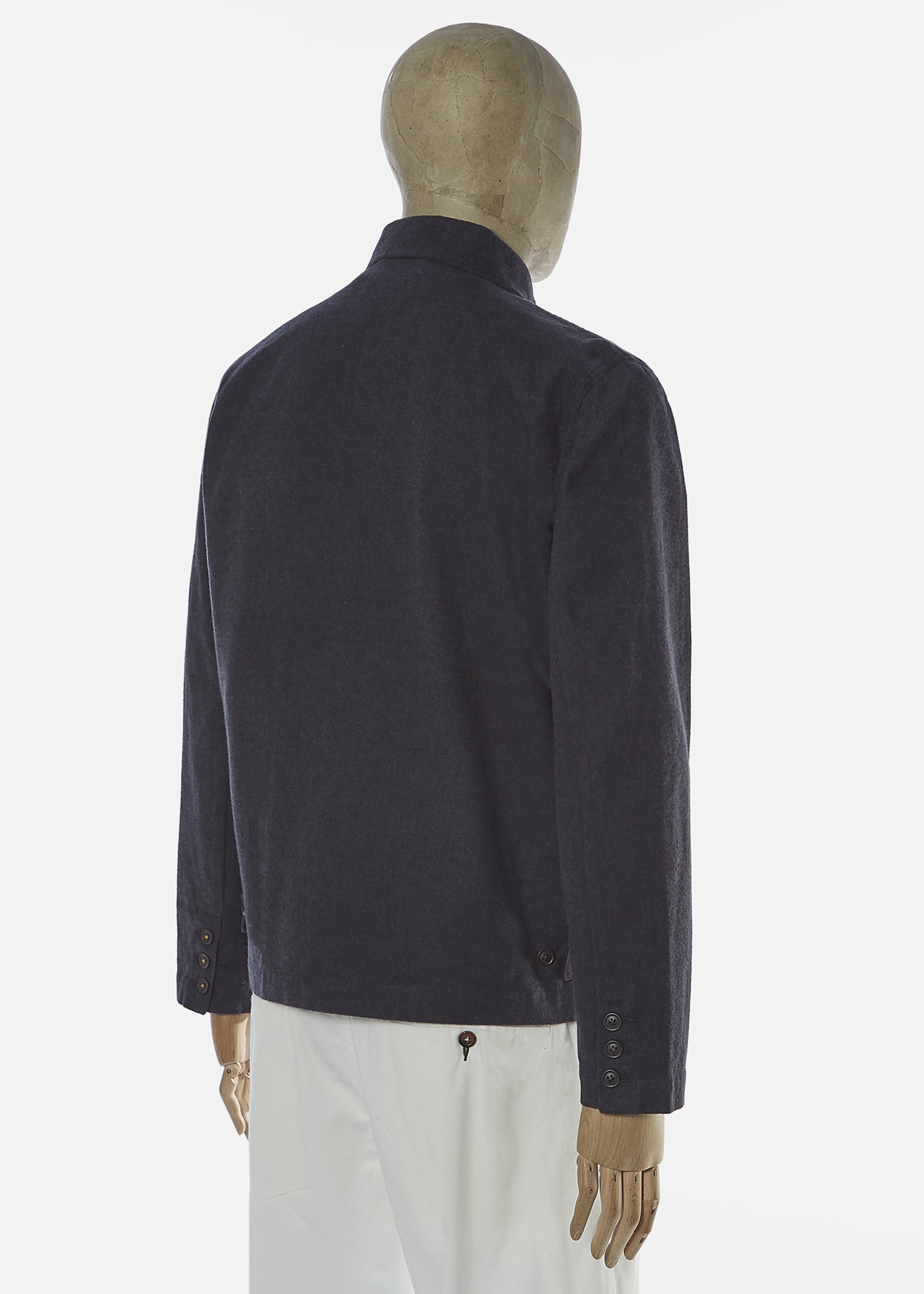 Universal Works Universal Works Warmus II Jacket Grey Nebraska Cotton
