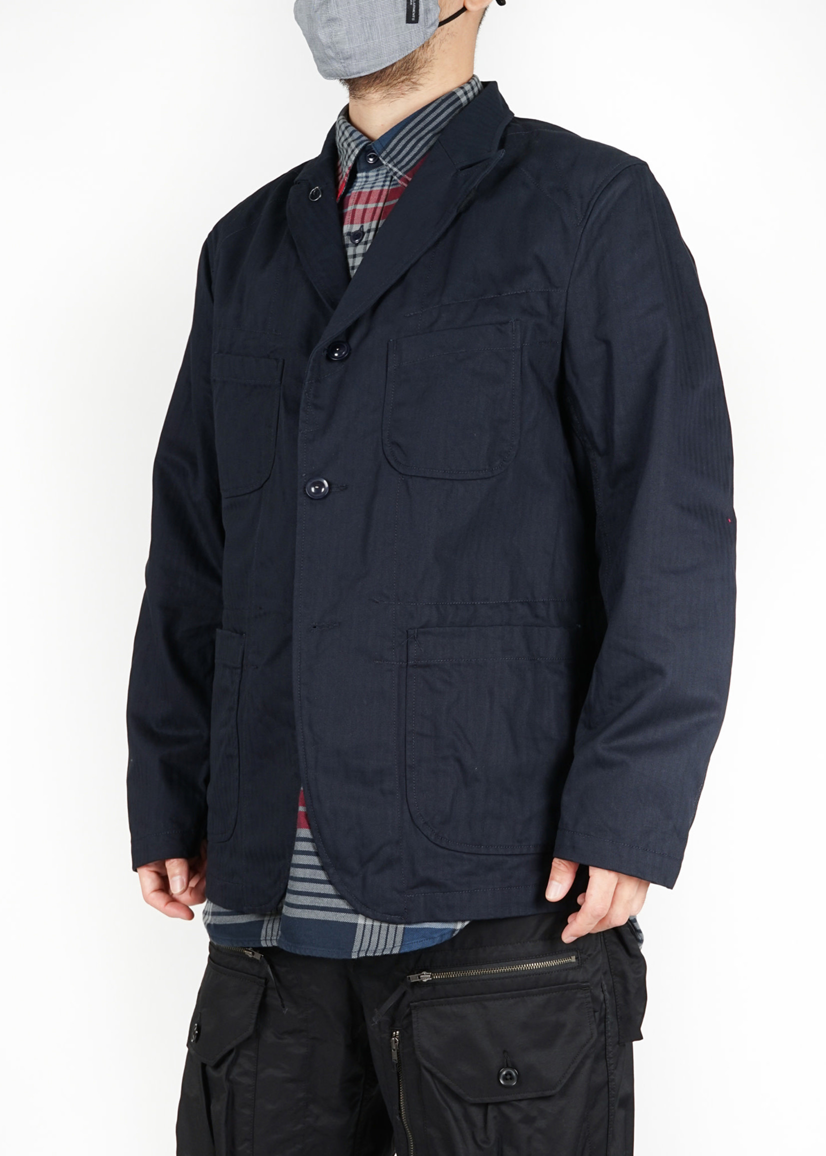 Engineered Garments Bedford Jacket Navy Cotton Herringbone by Engineered Garments