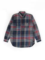 Engineered Garments Engineered Garments Work Shirt Navy/Grey/Red Cotton Twill
