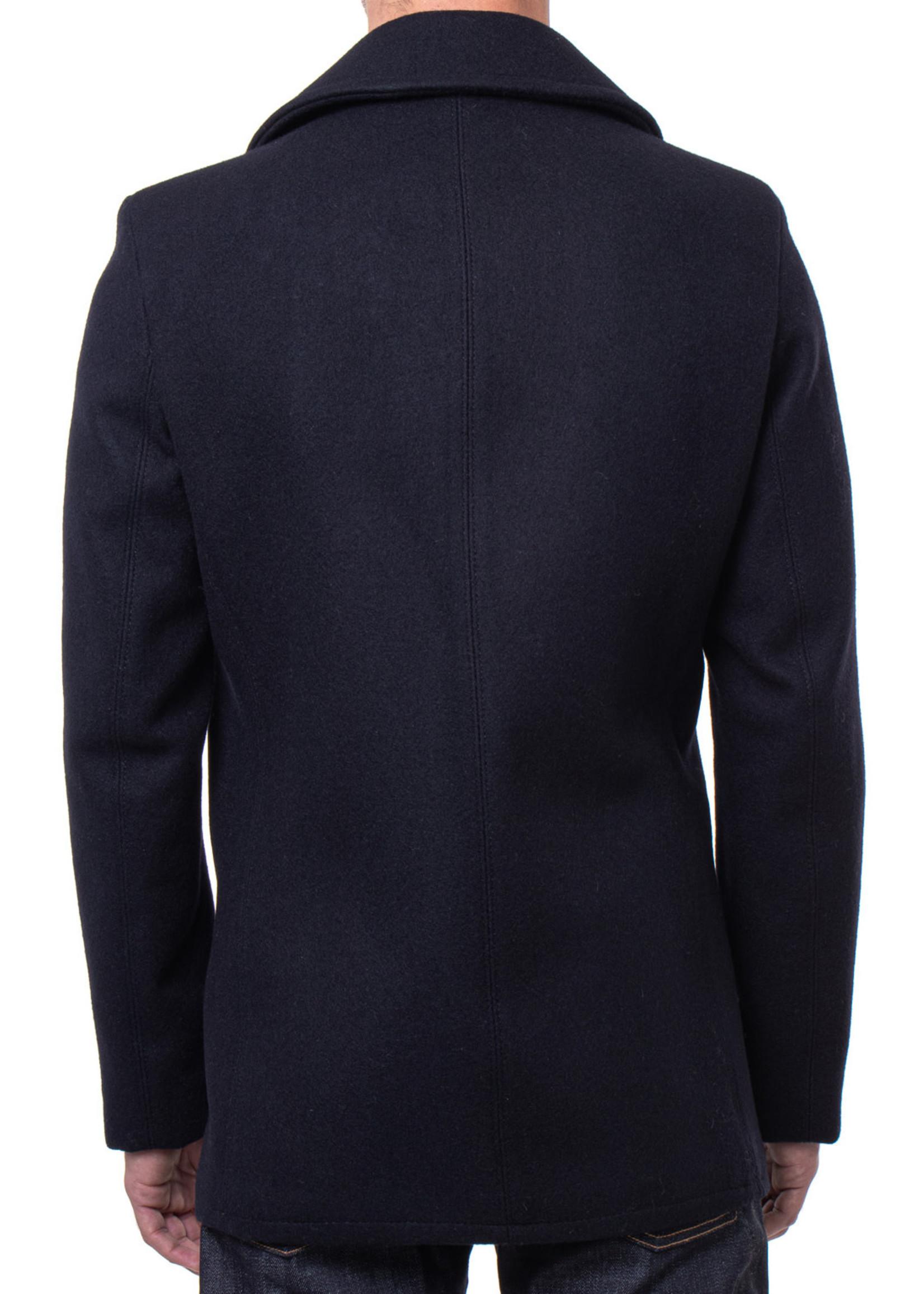 Schott Navy Melton Wool Peacoat