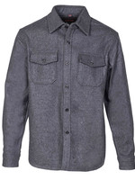CPO Overshirt Grey Wool Flannel by Schott
