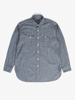 Engineered Garments Work Shirt Indigo Cotton Chambray by Engineered Garments