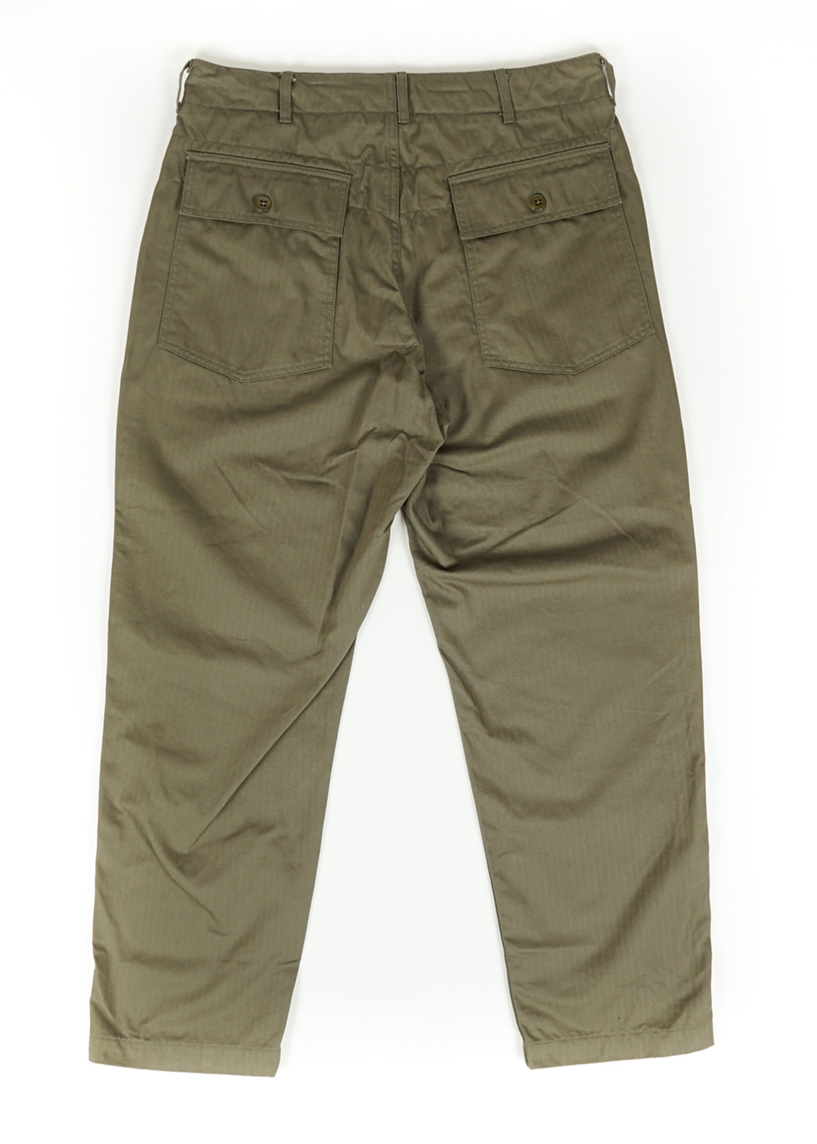Engineered Garments Fatigue Pant Olive Cotton Herringbone Twill by Engineered Garments