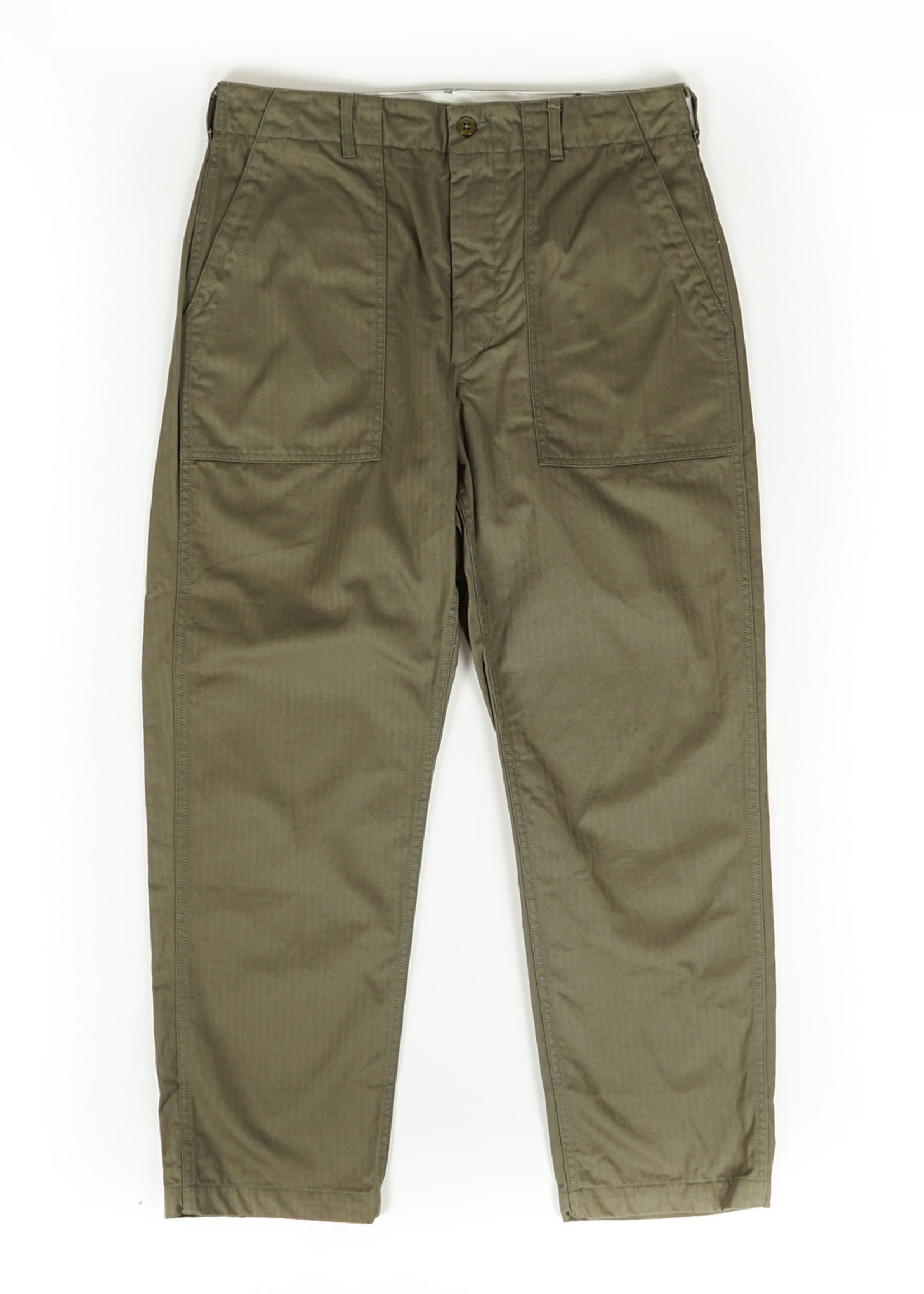 Engineered Garments  Engineered Garments Fatigue Pant Olive Cotton Herringbone Twill