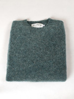 Harley Graphite Green Shetland Wool Crew Neck by Harley