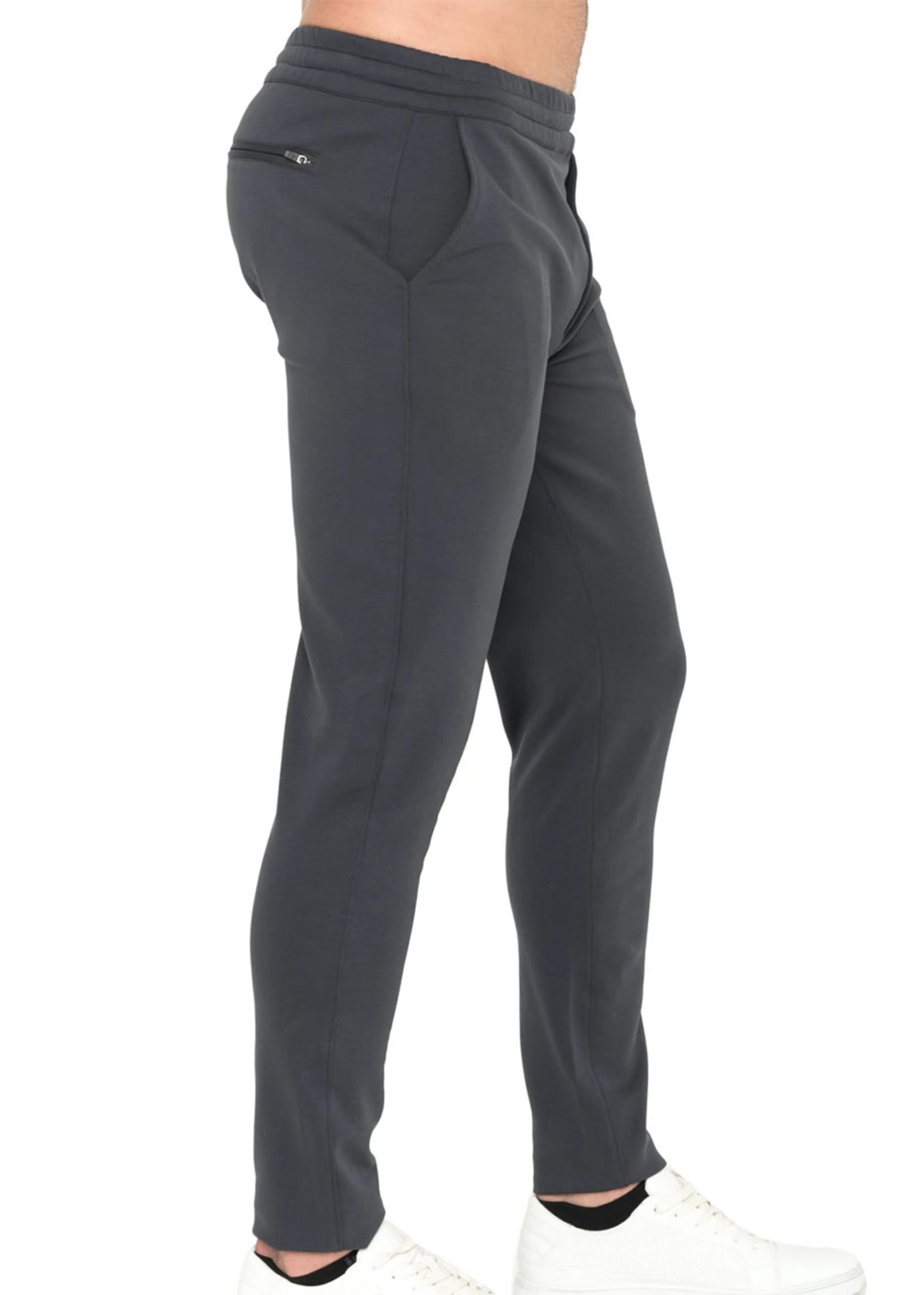 Raffi Raffi Easy Pant Charcoal Aqua Cotton