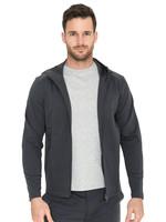 Raffi Raffi Zip Hoodie Jacket Charcoal Aqua Cotton