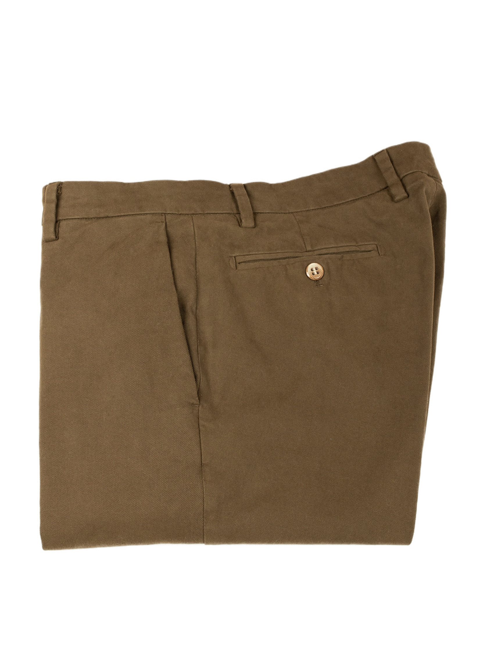 New York Brown Brushed Cotton Canvas Trouser by Mason's