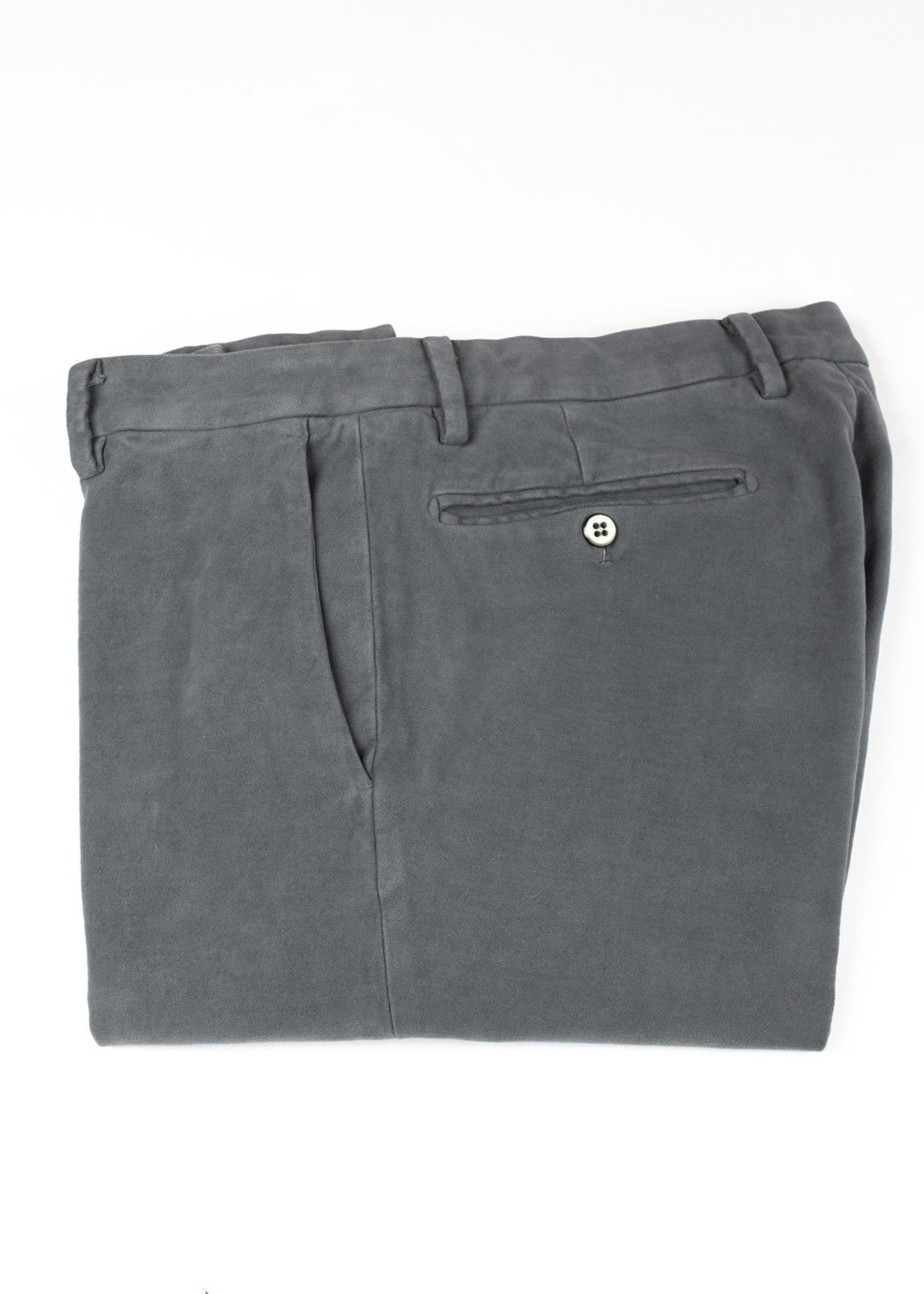 Mason's New York Gray Brushed Cotton Twill Trouser