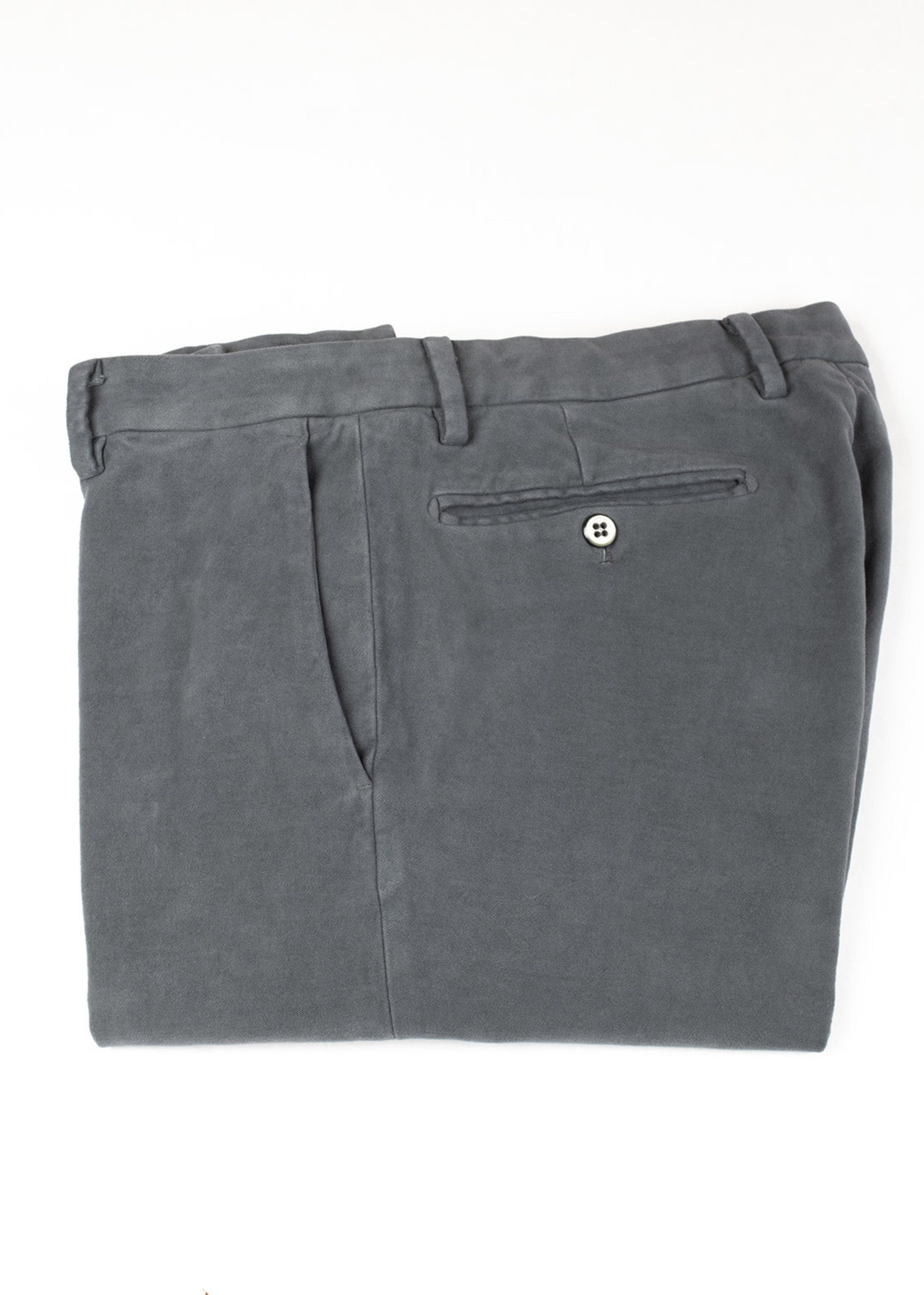 New York Gray Brushed Cotton Twill Trouser by Mason's